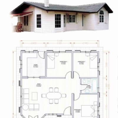 Construir casa prefabricada de 80m2 astorga le n for Casa moderna 80m2