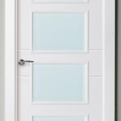 Suministro de 4 cristales blanco mate para puerta de paso - Cristales puertas interiores ...