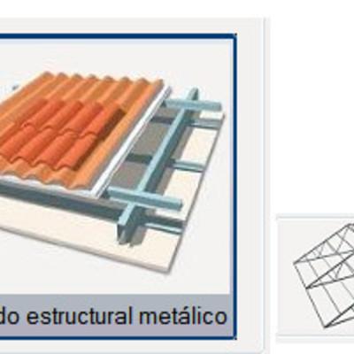 Hacer cubierta de tejas granada granada habitissimo - Estructura metalica cubierta ...