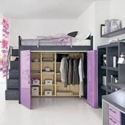 Mueble cama alta con armario debajo parla madrid - Cama armario debajo ...