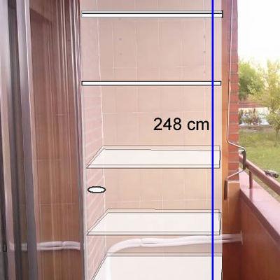 Hacer armario aluminio alcobendas madrid habitissimo - Armario balcon ...
