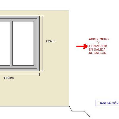 Cambiar ventanas de 2 habitaciones requiere tambi n de for Ventana balcon medidas