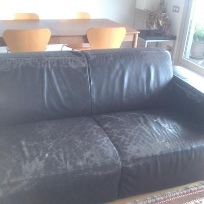 Tapizar un sof de tres plazas en piel una part es chaise - Precio tapizar sofa ...