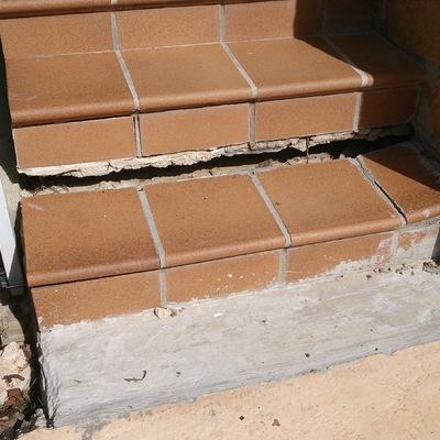 reconstrucci n dos pelda os y base de escalera exterior