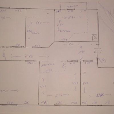 Reformar piso viejo 65 m2 tirar paredes cambiar suelo - Tirar paredes en un piso ...