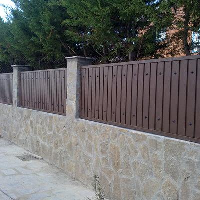 Sustitucion de valla metalica por muro algete madrid - Valla metalica precio ...