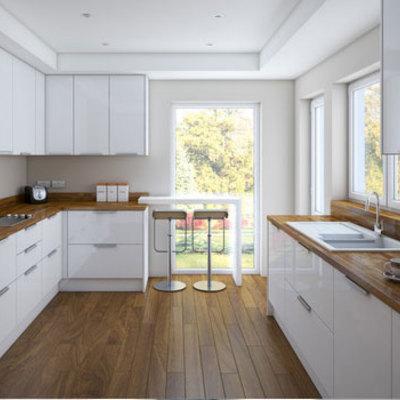 Ampliacion y reforma de cocina cerrando parte de la for Comedor 30 metros cuadrados