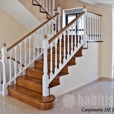 Cambiar barandilla de forja de las escaleras de casa y - Barandillas de escaleras interiores ...