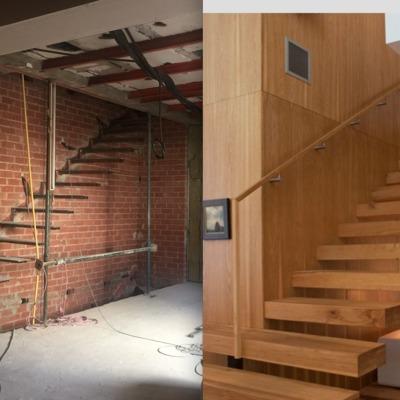 Puertas a medida revestir vigas y escalones de madera for Puertas madera a medida