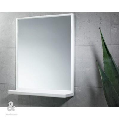 Colocar espejo para el ba o con un marco de madera for Espejos para banos con marco de madera
