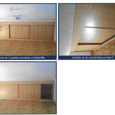 Frontal de armario con puertas correderas para hueco - Puertas hasta el techo ...