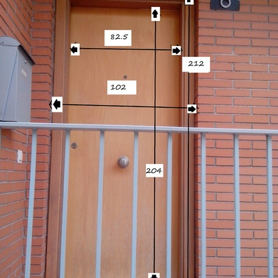 Puerta exterior de aluminio sant fruit s de bages Puerta balcon aluminio medidas