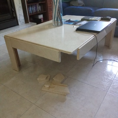 Reparacion pata rota mesa de marmol rivas vaciamadrid for Marmol para mesa