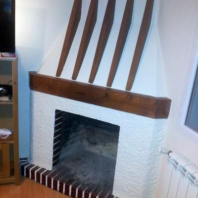Instalar un hogar de hierro fundido en una chimenea de for Instalar insert chimenea existente