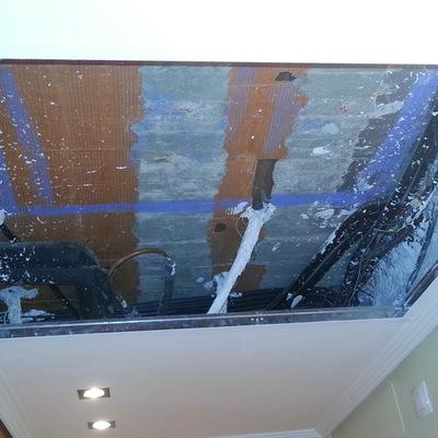 Arreglar falso techo tras instalar aire acondicionado for Arreglar aire acondicionado