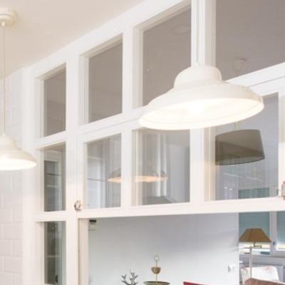 Cristalera ventana entre cocina y sal n de las vegas - Separacion cocina salon ...