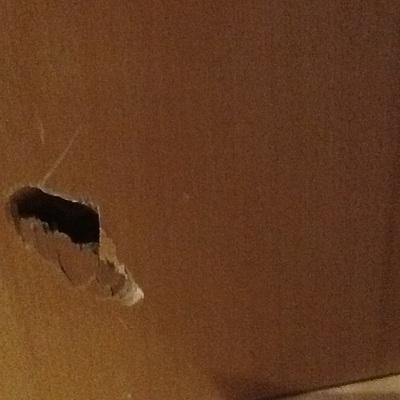 Arreglar agujero de la puerta de madera ullastrell - Como arreglar puertas de madera ...