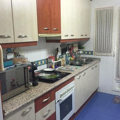 Quitar cocina vieja montar suelo vinilico y muebles for Cambiar suelo cocina sin quitar muebles