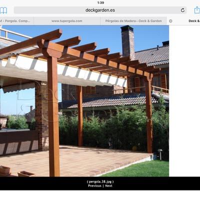 Instalar p rgola de madera a un agua de dos metros avance - Pergolas de madera valencia ...