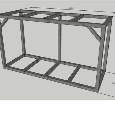 Estructura mueble acuario los molinos getafe madrid - Mueble para acuario ...