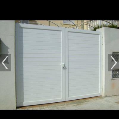 Puerta aluminio para jard n coche y personas hortaleza madrid madrid habitissimo Puertas jardin aluminio