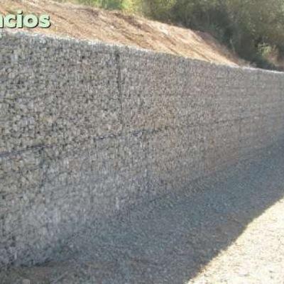 trabajo a realizar construir muro otros materiales - Muro De Gaviones