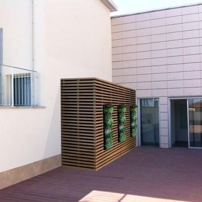 Armario caseta contenedor con ventana para terraza tico barcelona barcelona habitissimo - Armario para terraza ...
