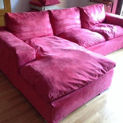 Arreglar sofa chaise longue de 270x106 en tela incluyendo relleno