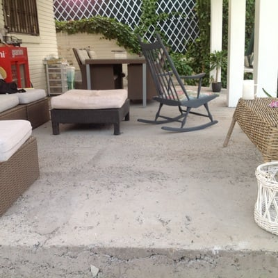 Suelo de cemento pulido en porche exterior las lomas for Cemento pulido precio