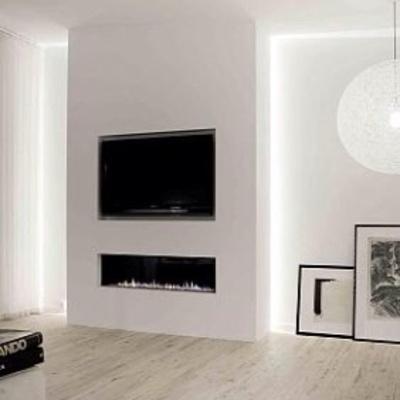 Pared de pladur para integrar chimenea y tv en el salon - Muebles pladur fotos ...