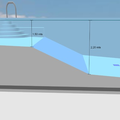 Proyecto piscina unifamiliar en chalet en hormigon for Piscina rivas