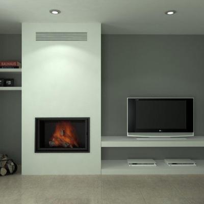 Soporte para insertable de chimenea mueble tv sant - Muebles la chimenea catalogo ...