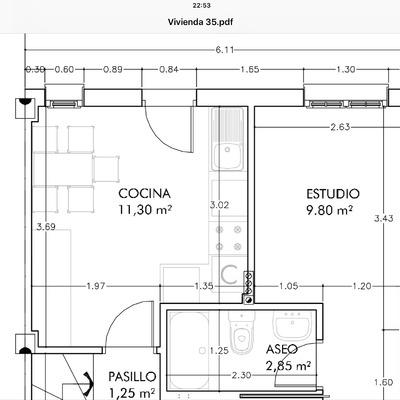 Amueblar cocina de 10 metros cuadrados en santander for Cocina 6 metros cuadrados