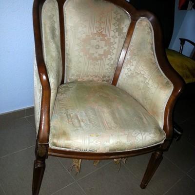 Tapizar sill n estilo maria antonieta zaragoza zaragoza - Tapizar sillon precio ...