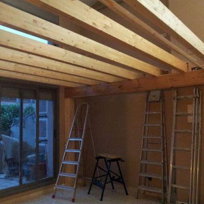 Cerrar altillo de madera habitacion en buhardilla - Como hacer un altillo de madera ...
