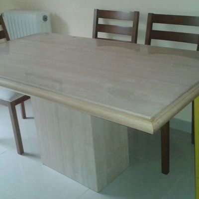 Reparaci n mesa comedor m rmol travertino alcorc n for Precio de marmol travertino