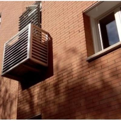 Caj n lamas de aluminio para cubrir aire acondicionado for Caja aire acondicionado