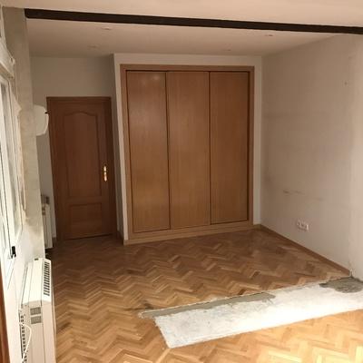 Reparar parquet inexistente debajo de un armario ropero - Reparar parquet sin acuchillar ...