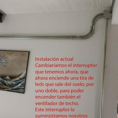 Instalar ventilador de techo madrid madrid habitissimo - Instalacion de ventilador de techo ...