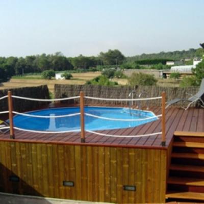 Tarima para piscina desmontable de gres santa pola for Precios piscinas desmontables
