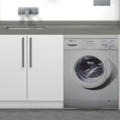 Colocar mueble y encimera zona lavadero zona centro a for Colocar encimera