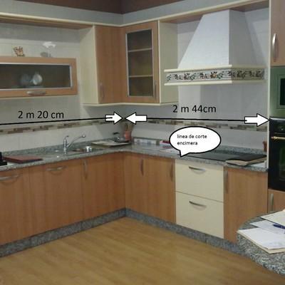 Desmontaje mueble cocina exposicion y montaje en cocina de piso que ...