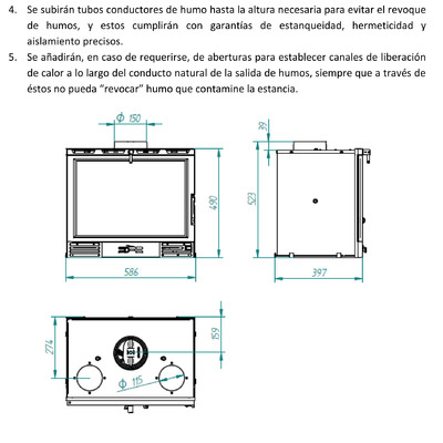 Como instalar una chimenea cassette aspectos a tener en for Instalar chimenea cassette