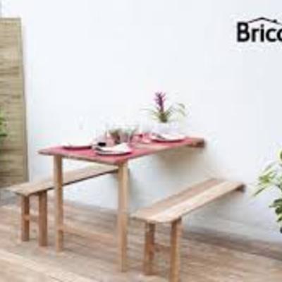 Mesa y bancos abatibles de pared madrid madrid - Mesas de jardin plegables ...