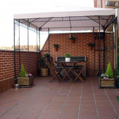 Suelo bajo p rgola de madera atico alcal de henares madrid habitissimo - Pergola terraza atico ...