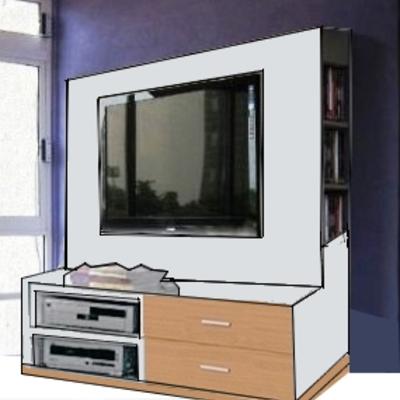 Mueble tv pladur sant boi de llobregat barcelona for Muebles los pinos sant boi