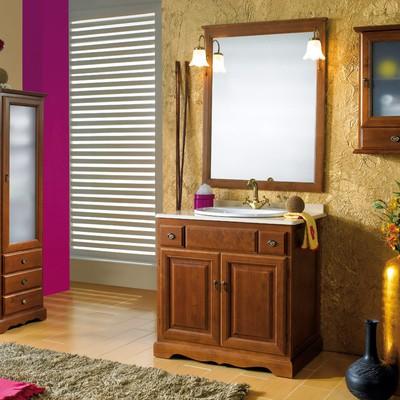 Mueble ba o rustico madera con encimera zaragoza - Muebles de bano rusticos online ...