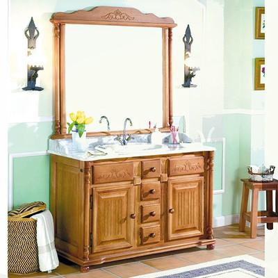 Mueble ba o rustico madera con encimera zaragoza for Muebles rusticos en zaragoza