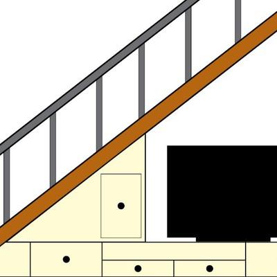 mueble tv bajo escalera mueble bajo escaleras tv santiago de compostela a