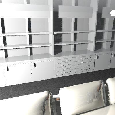 Completar mueble de pladur con cajoneras y puertas de madera lacada blanca - Castillo de Viñuelas (Madrid)   Habitissimo